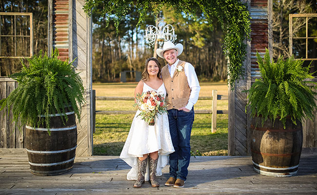 outdoor weddings at the barn in crosby texas