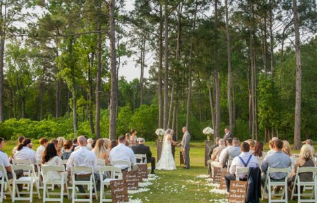 married in the woods - pine tree wedding locations